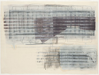 Moshe Kupferman, Untitled, 1978, graphite and paint wash on paper, 56.5 x 75.5 cm, Jewish Historical Museum, gift of Ad Petersen
