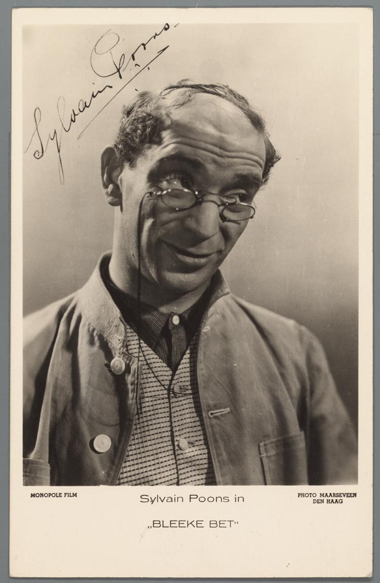 Sylvain Poons in Bleeke Bet,1934. Collectie Joods Historisch Museum