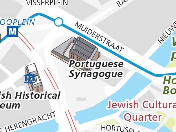 Location Portuguese Synagogue